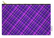 Purple And Pink Diagonal Plaid Fabric Background Carry-all Pouch
