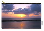 Purple And Pink Sunset Caribbean Dream Carry-all Pouch