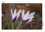Purple And White Crocus Carry-all Pouch