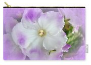 Purple And White Fancy African Violets Carry-all Pouch