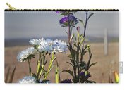 Purple And White Flowers In The Sun Carry-all Pouch