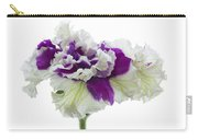 Purple And White Frilly Petunia Carry-all Pouch