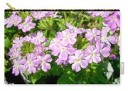Purple And White Phlox Carry-all Pouch