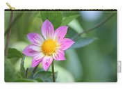 Purple And Yellow Dahlia Carry-all Pouch
