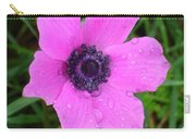 Purple Anemone - Anemone Coronaria Flower Carry-all Pouch