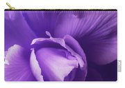 Purple Begonia Flower Carry-all Pouch