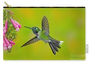 Purple-bibbed Whitetip Hummingbird Carry-all Pouch by Anthony Mercieca