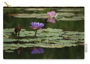 Purple Blossoms Floating Carry-all Pouch