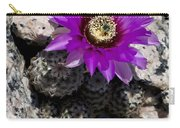 Purple Cactus Flower Carry-all Pouch