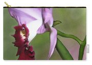 Purple Cattleya Orchid In Profile Carry-all Pouch