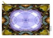 Purple Clam Shell Mandala Yantra Carry-all Pouch by Marie Jamieson