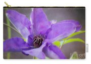 Purple Clematis Close Up Carry-all Pouch
