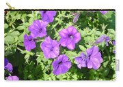 Petunias Purple Club Carry-all Pouch