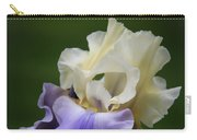 Purple Cream Bearded Iris Carry-all Pouch