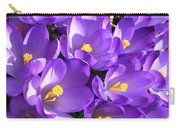 Purple Crocus Spring Welcome Carry-all Pouch