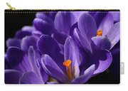 Purple Crocuses On A Spring Day Carry-all Pouch