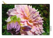 Purple Dahlia With Bud Carry-all Pouch