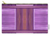 Purple Dreams Squares Carry-all Pouch