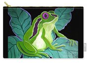 Purple Eyed Frog Carry-all Pouch