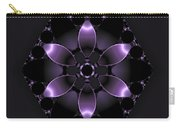Purple Fantasy Flower Carry-all Pouch