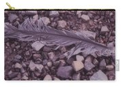 Purple Feather Carry-all Pouch