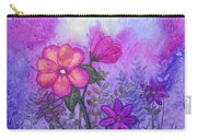 Purple Floral Fantasy Carry-all Pouch