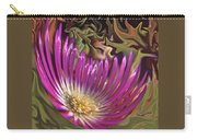 Purple Flower Abstract Carry-all Pouch