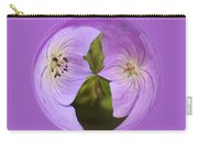 Purple Flower Orb Carry-all Pouch