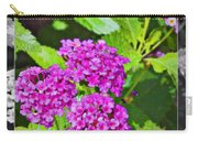 Purple Flowers A Carry-all Pouch