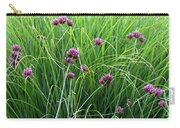 Purple Flowers And Grasses Carry-all Pouch