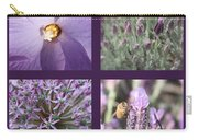 Purple Flowers Collage Carry-all Pouch
