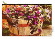 Purple Flowers In Rusty Bucket Carry-all Pouch
