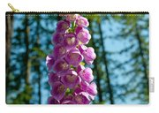 Purple Foxglove Stem Carry-all Pouch