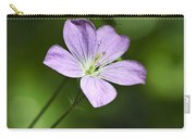 Purple Geranium Flowers Carry-all Pouch