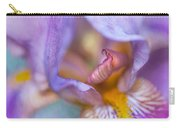Purple Glow. Macro Iris Series Carry-all Pouch