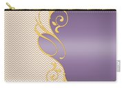 Purple Gold Chevron Carry-all Pouch