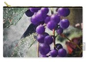 Purple Grapes - Oil Effect Carry-all Pouch