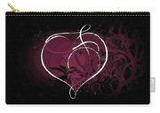Purple Heart Of Passion Carry-all Pouch