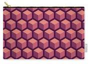 Purple Hexagonal Pattern Carry-all Pouch