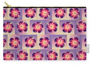 Purple Hibiscus Pattern Carry-all Pouch