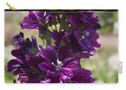 Purple Hollyhock Flowers Carry-all Pouch