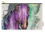 Purple Horse Carry-all Pouch