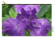 Purple Iris After The Rain Carry-all Pouch