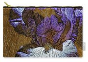Purple Iris Gold Leaf Carry-all Pouch