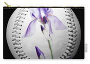 Purple Iris High Key Baseball Square Carry-all Pouch by Andee Design
