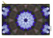 Purple Iris Kaleidoscope Carry-all Pouch