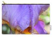 Purple Iris Macro Carry-all Pouch