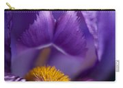 Purple Iris Macro Textured 1 Carry-all Pouch