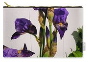 Purple Iris Stalk Carry-all Pouch