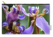 Purple Irises Closeup Carry-all Pouch